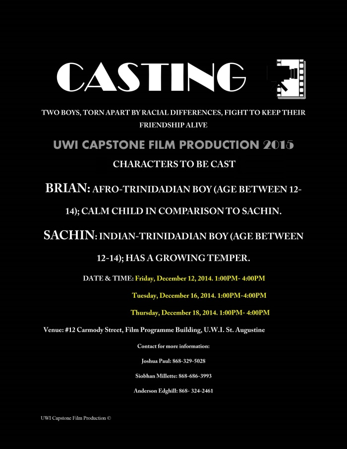 Casting call flyer 2