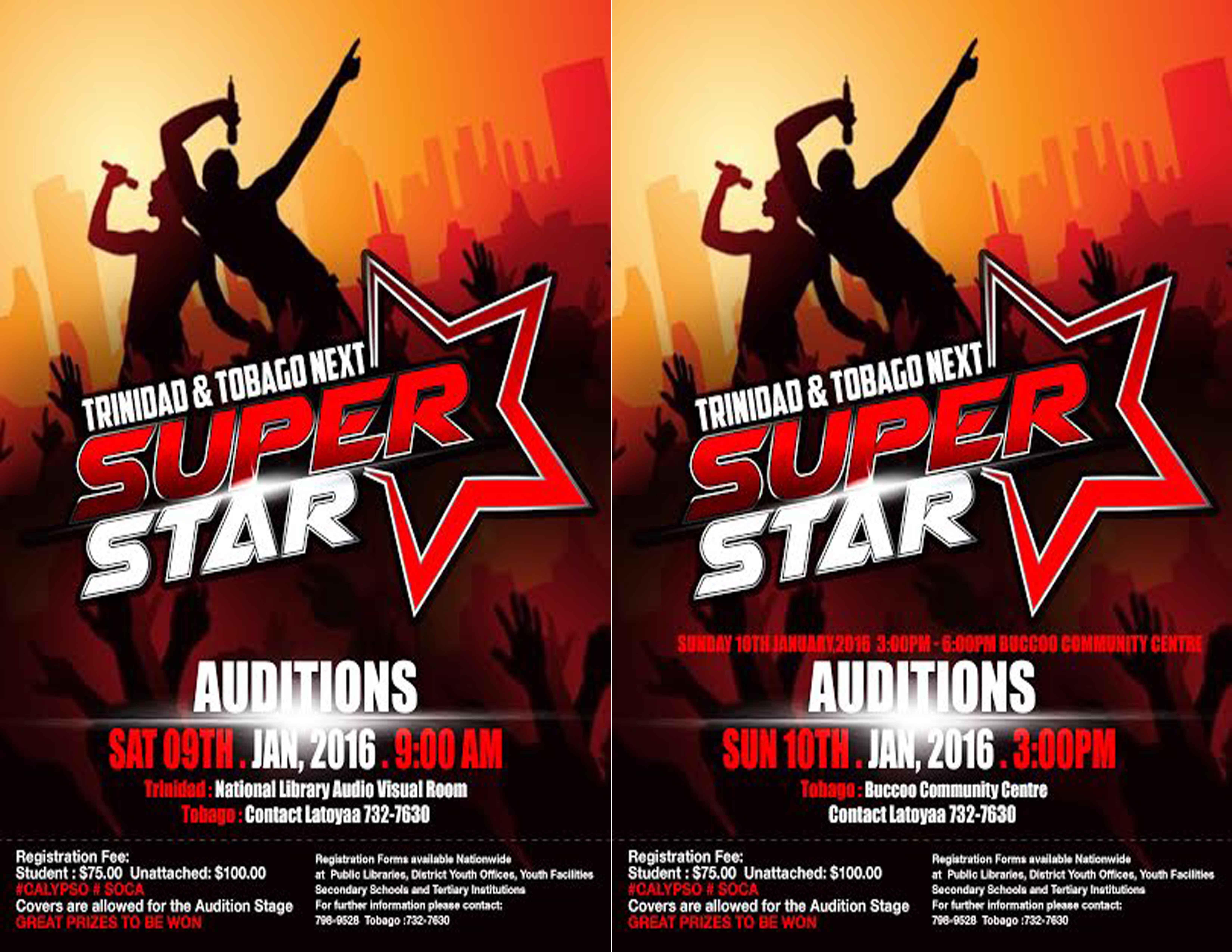 Trinidad And Tobago Next Soca Star Auditions In Singing