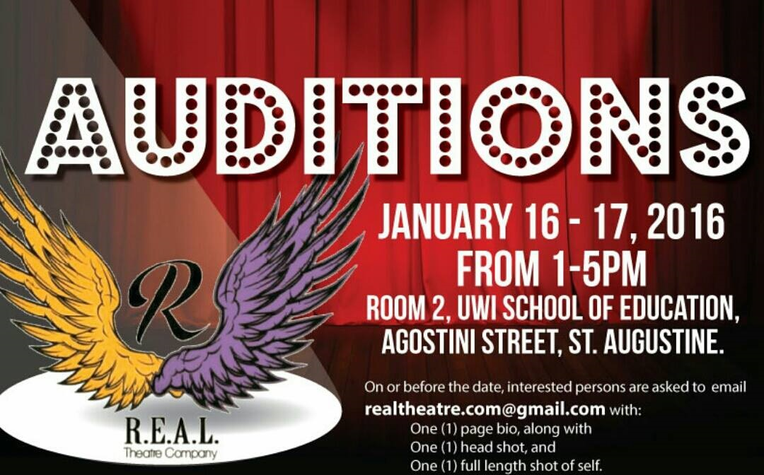 Real Theatre Compay Auditions in Trinidad and Tobago