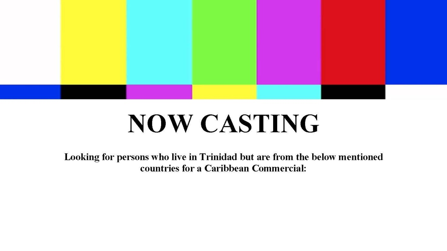 Casting Call for TV Commercial in Trinidad and Tobago with Source It Ads