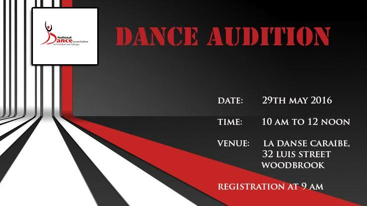 Dance Audition for the National Dance Association of Trinidad and Tobago