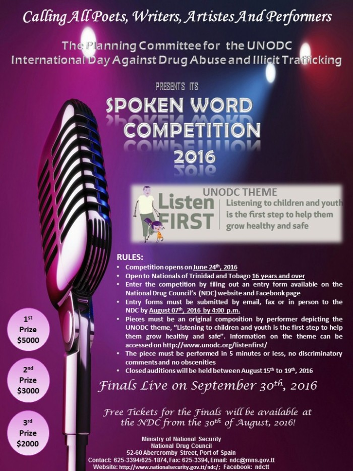 Final Flyer for the Spoken Word Competition 2016