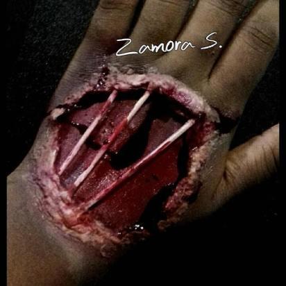 Tendons Exposed | Makeup/SFX: Zamora S.