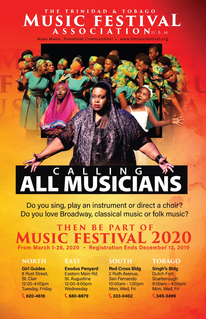 Trinidad and Tobago Music Festival 2020 Flyer